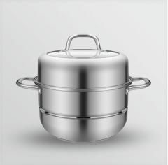 保蒂克双层蒸锅CSZQ34厨尚美多用双篦蒸锅