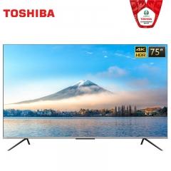 东芝电视 75M545F 75英寸4K超高清语音电视机无边全面屏超薄机身智能