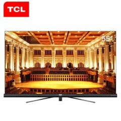 TCL电视55寸 55c6    星幕全面屏,4k高清,人工智能,哈曼卡顿圆柱体音响